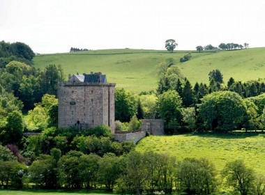 view of borthwick castle from the outside