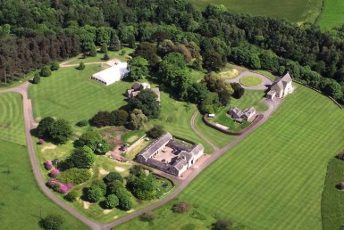 Aerial view of Dunglass Country House Estate