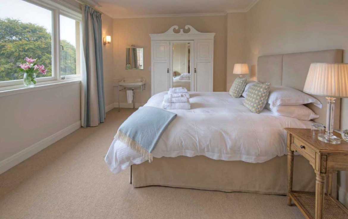 Bedroom in one of the Dunglass Country Estate cottages