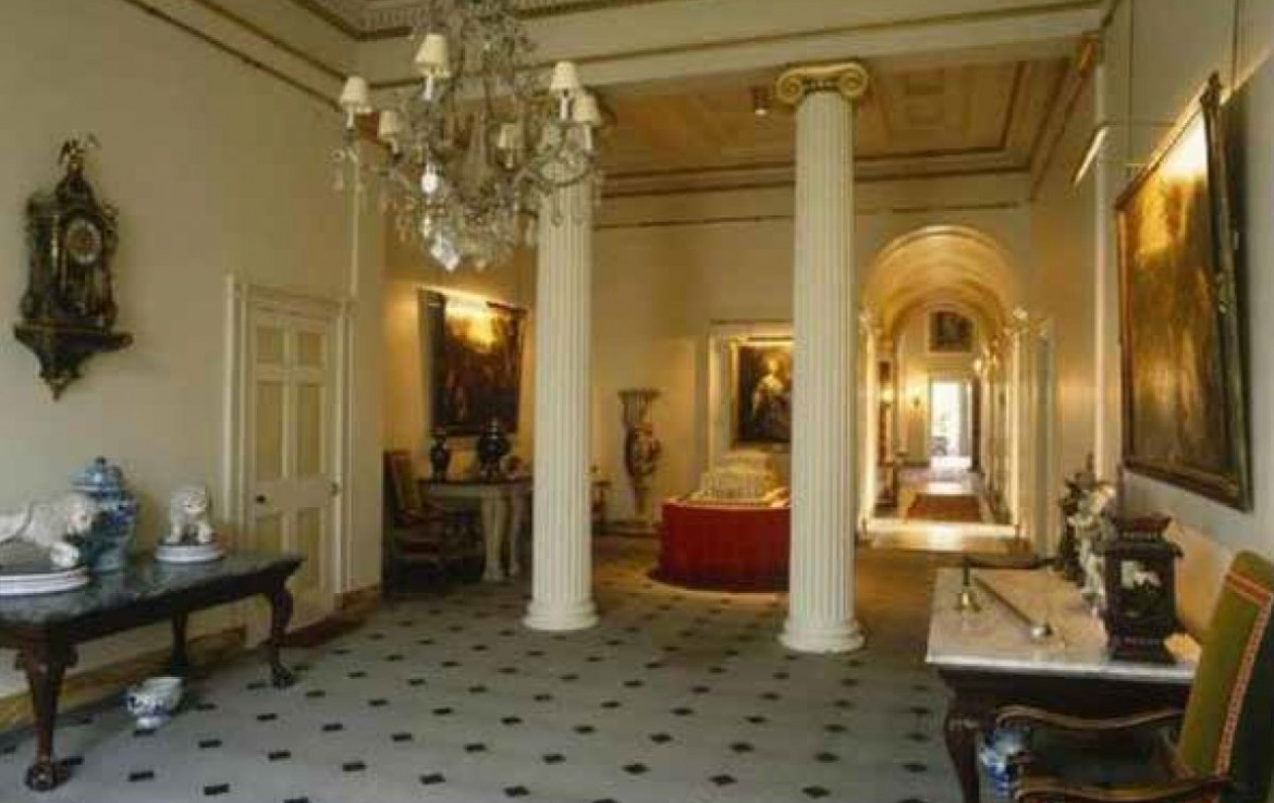Grand Entrance Hall of Yester House